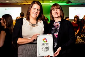 Jenny Marchmont & Sarah Fitzpatrick at the ABPCO Excellence Awards 2016